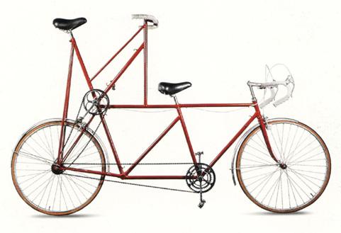 Bicicleta alta de Jacques Carelman