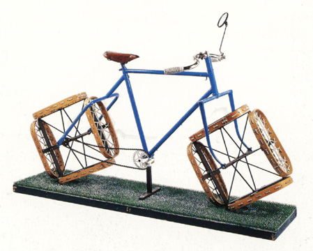 Bicicleta para la nieve de Jacques Carelman