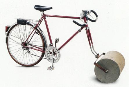Bicicleta Rodillo de Jacques Carelman