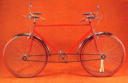 Bicicleta Simétrica de Jacques Carelman