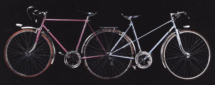 Bicicleta Divergente de Jacques Carelman