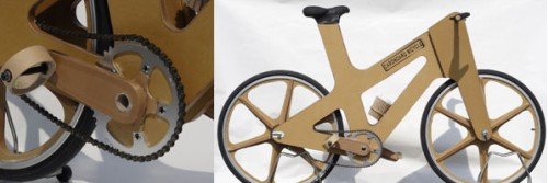 Bicicleta de cartón de Phil Bridge