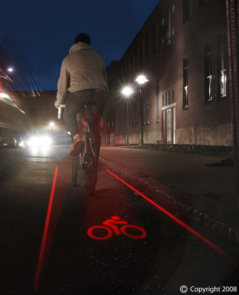 Light Lane o Proyector de Carril Bici