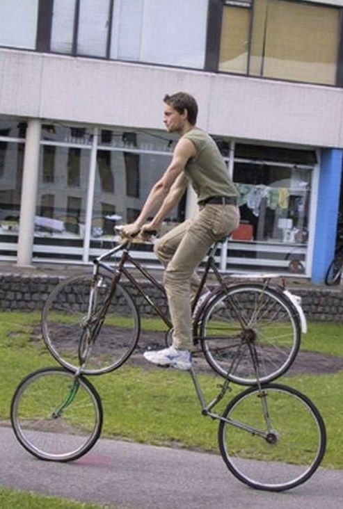 Tall Bike sobre ruedas