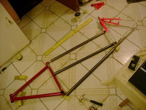 La bicicleta tándem sin soldar | Autoría: Bikeaventuras