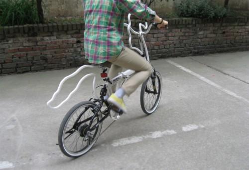 La bicicleta caballo en acción