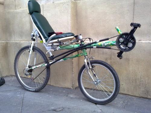 Bicicleta reclinada corta de Rodrigo Martín